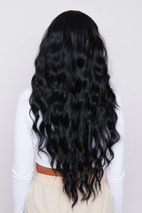"Kali 26"" Black Synthetic Hair Non Lace Wig"