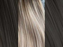 "Load and play video in Gallery viewer, Louisa 14"" Blonde Straight Synthetic Hair Wig"