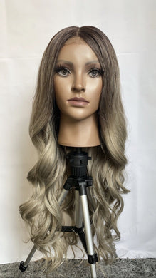 "Nadine 26"" Grey Synthetic Hair Lace Wig - PBeauty Hair"