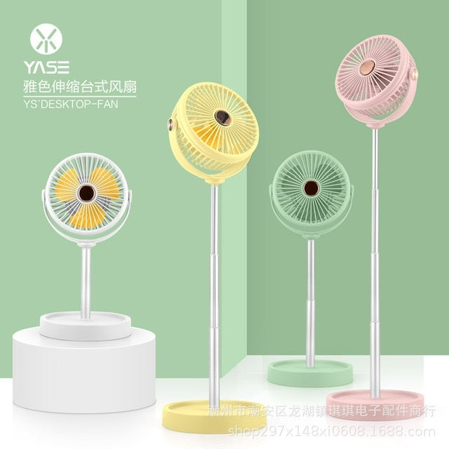 Color folding fan with light
