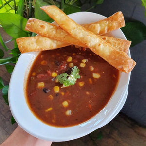 Tortilla, Corn & Black Bean Soup