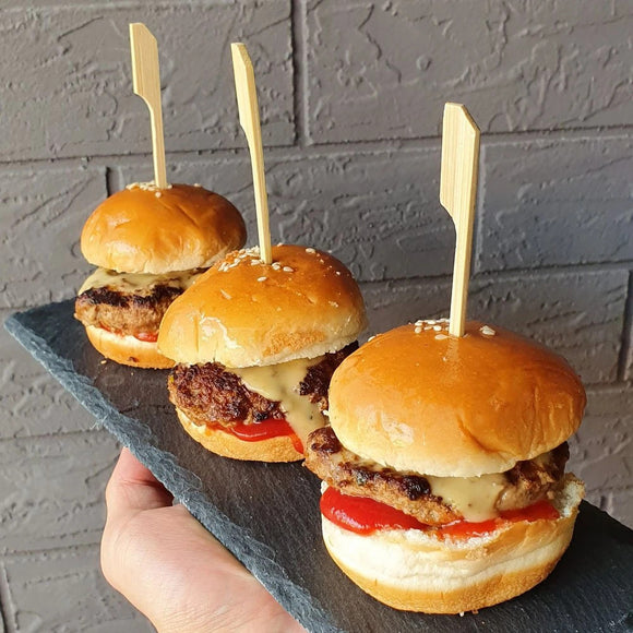 Beef & Queso Sliders