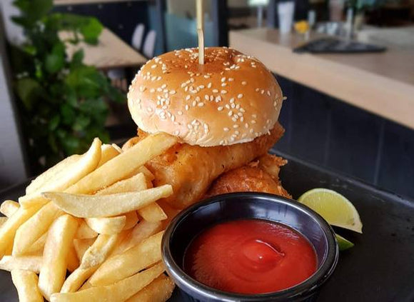 'Fancy-O-Fillet' Battered Fish Burger