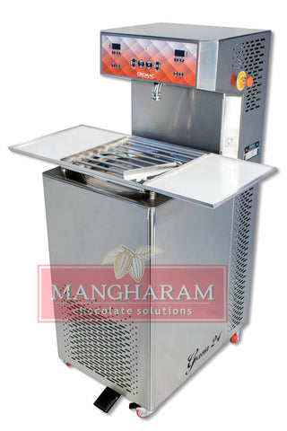 Mangharam Chocolate Solutions ChocoMan Gracia 24 automatic tempering chocolate machine