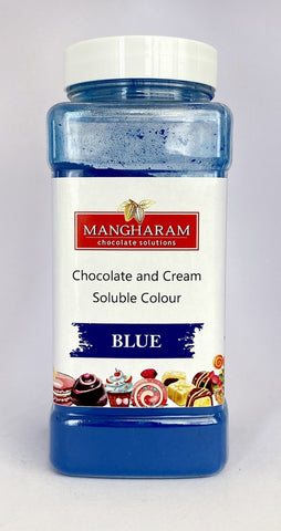 Mangharam Chocolate & Cream soluble Colour BLUE - 100 gms Jar - Mangharam Chocolate Solutions