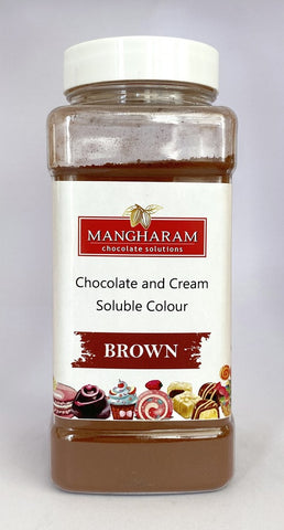 Mangharam Chocolate & Cream soluble Colour BROWN - 100 gms Jar - Mangharam Chocolate Solutions