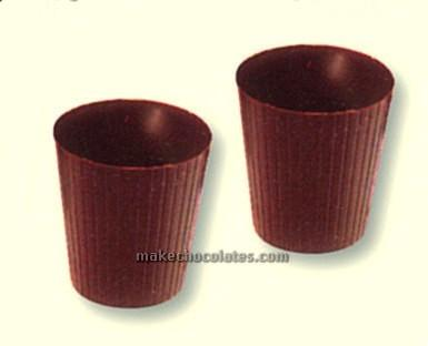 Mangharam Chocolate Dessert Cup Mould CC2228 - Mangharam Chocolate Solutions