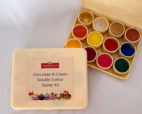 Mangharam Chocolate & Cream-soluble Colour Starter Kit - Mangharam Chocolate Solutions