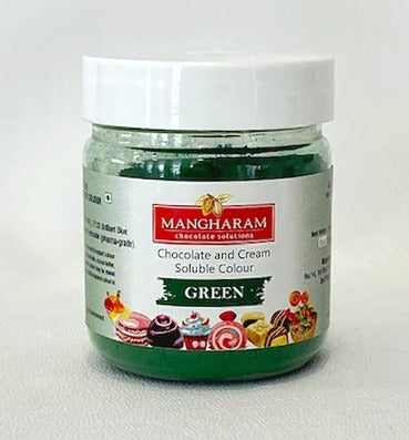 Copy of Mangharam Chocolate Colour PEA GREEN - 25 gms Jar - Mangharam Chocolate Solutions