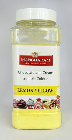 Mangharam Chocolate & Cream soluble Colour LEMON YELLOW - 100 gms Jar
