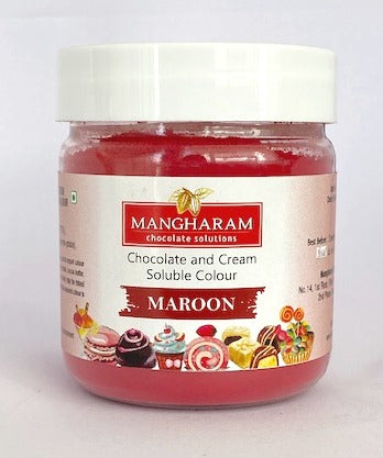Mangharam Chocolate Colour MAROON - 25 gms Jar - Mangharam Chocolate Solutions