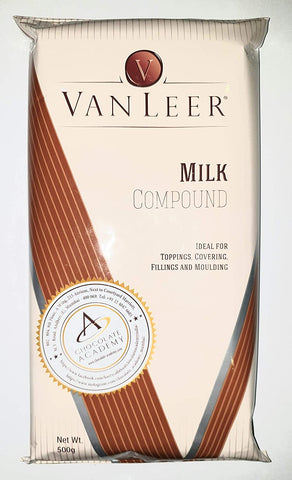 Van Leer Milk Choco Compound 500g Slab - Mangharam Chocolate Solutions