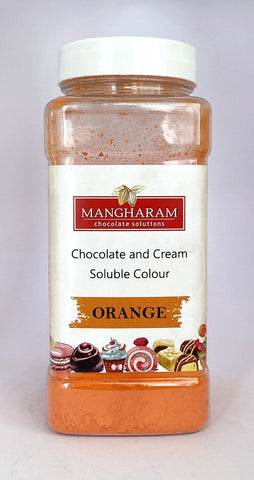 Mangharam Chocolate & Cream soluble Colour ORANGE - 100 gms Jar