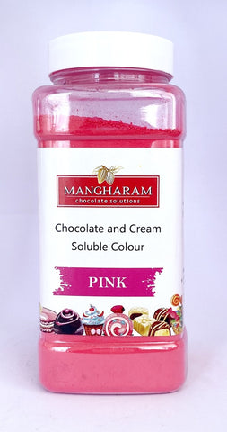 Mangharam Chocolate & Cream soluble Colour PINK- 100 gms Jar