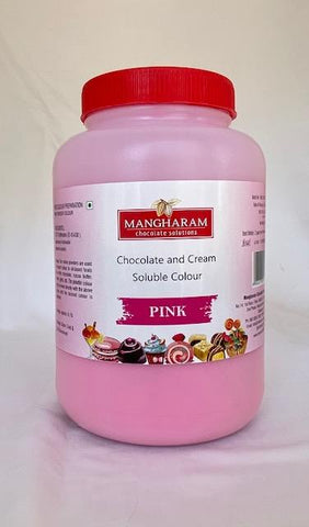 Mangharam Chocolate Solutions PINK - 500 gms Jar - Mangharam Chocolate Solutions