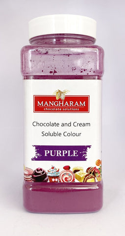 Mangharam Chocolate & Cream soluble Colour PURPLE - 100 gms Jar