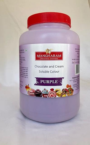 Purple Chocolate Colour - 500 gms - Mangharam Chocolate Solutions