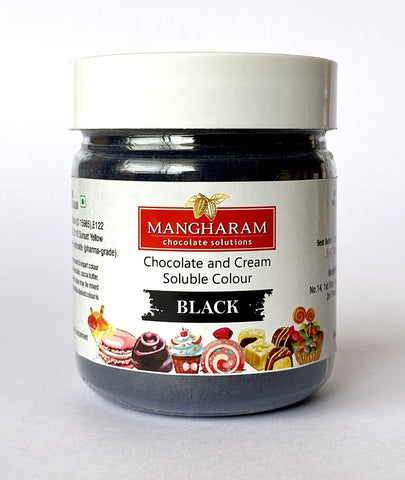 Mangharam Chocolate & Cream soluble Colour BLACK - 25 gms Jar
