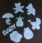 Baby shower packaging accessories ( blue  ) - Mangharam Chocolate Solutions
