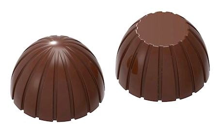 Polycarbonate Chocolate Coconut shaped Mould RM1962 from Mangharam