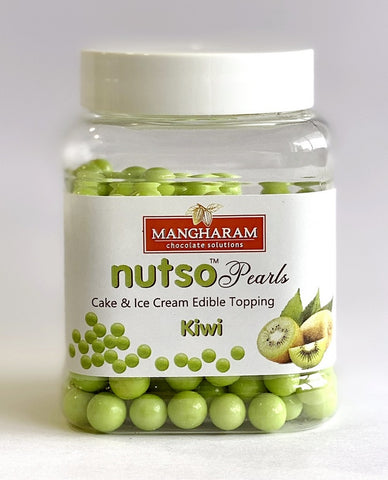 Mangharam NUTSO Pearls Cake Ice Cream Toppings KIWI - 100g Jar - Mangharam Chocolate Solutions