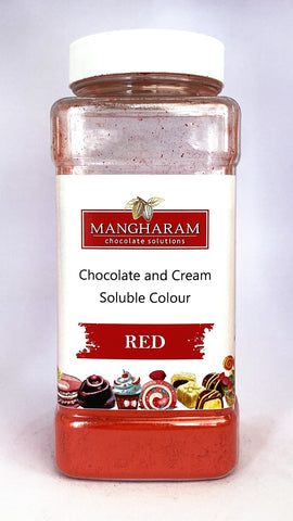 Mangharam Chocolate & Cream soluble Colour RED - 100 gms Jar