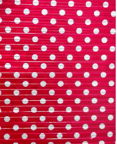 Chocolate Wrapping Foil - Red with Sliver Dots (set of 3 Bundles) - Mangharam Chocolate Solutions