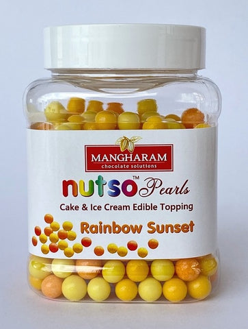 Mangharam NUTSO Pearls Cake Ice Cream Toppings RAINBOW SUNSET - 100g Jar
