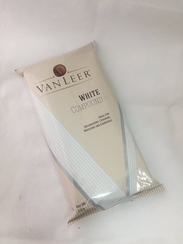 Van Leer White Choco Compound 500g Slab - Mangharam Chocolate Solutions