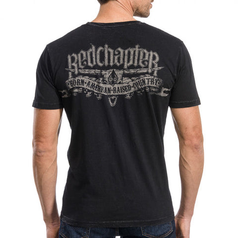 "Red Chapter ""American/Country"" Black S/S Crew"