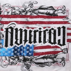 "Red Chapter ""American / Country"" White S/S Crew"