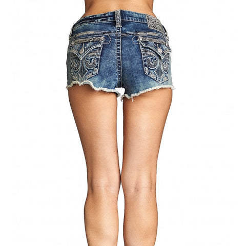 AFFLICTION VIKKI DIAMOND DOUGLAS SHORT
