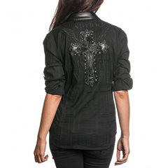 Affliction Treasure L/S Woven Womens