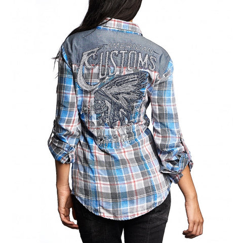AFFLICTION LACEY L/S WOVEN