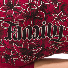 "Red Chapter ""Family/Forever"" Red V-Neck"
