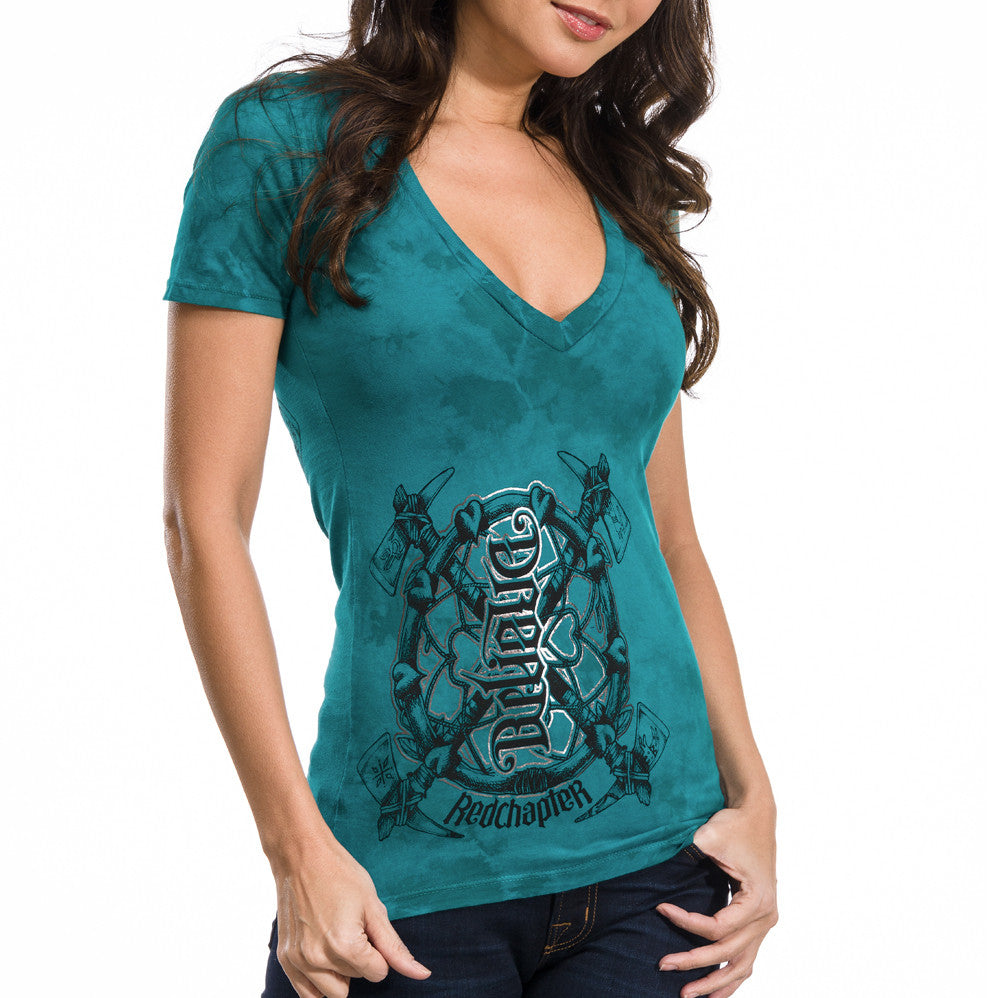"Red Chapter ""Dream/Believe"" Jade Mint V-Neck"