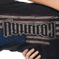 "Red Chapter ""American/Country"" Black V-Neck"