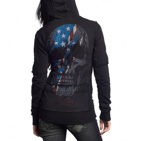 Affliction Rebel Rebel L/S Zip Mock Womens