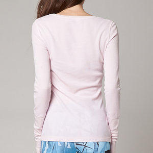FOX FADED LS PALE PINK