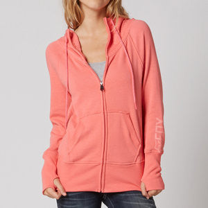 FOX MIX UP ZIP HOODIE SALMON