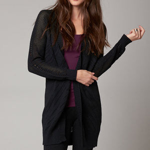 FOX ICICLE CARDIGAN BLACK