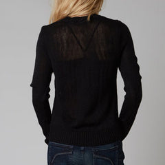FOX COLD HEARTS SWEATER BLACK