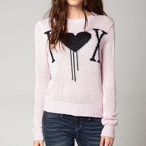 FOX COLD HEARTS SWEATER PALE PINK