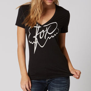 FOX ROYAL VNECK SS BLACK
