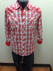 Victorious Red & White Plaid Shirt