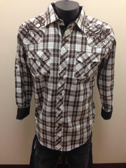 Victorious Brown & White Plaid Shirt