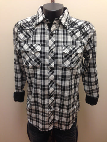 Victorious Black & White Plaid Shirt