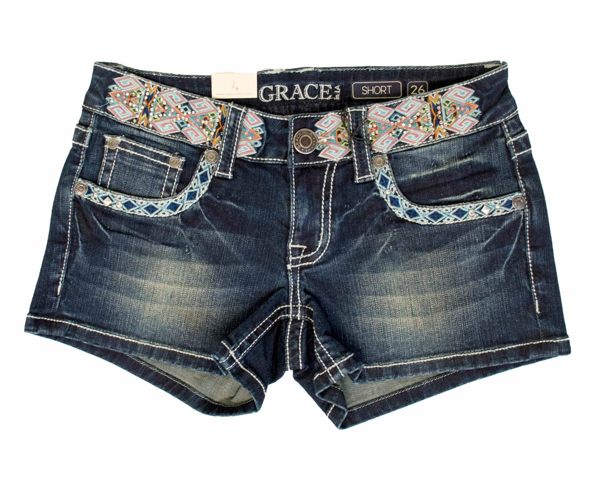 GRACE IN LA MULTI-COLORED TRIBAL SHORT