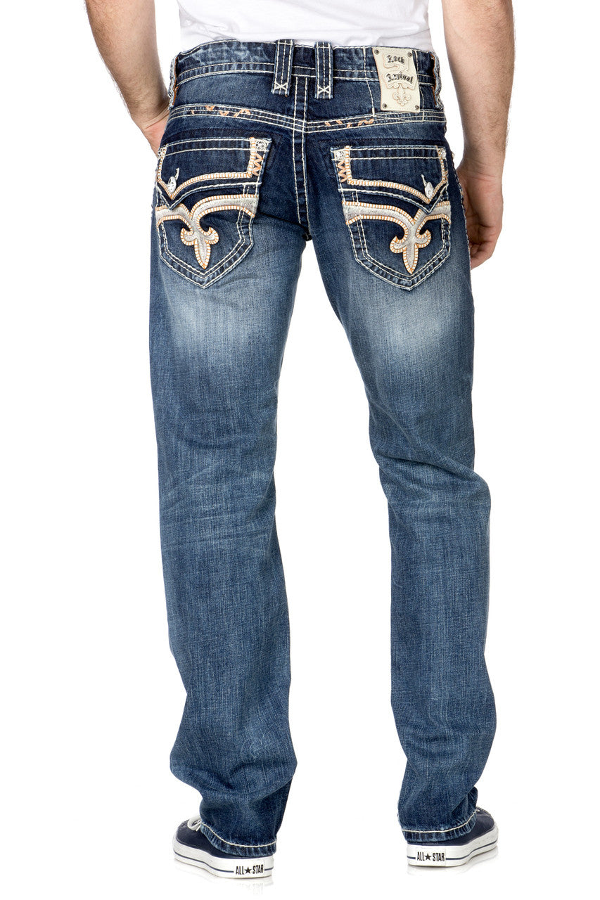 ROCK REVIVAL DARRY STRAIGHT CUT JEAN