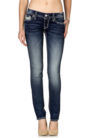 ROCK REVIVAL KAYLA SKINNY CUT JEAN